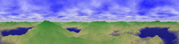Cylindrically Projected Scenery Image Texture for Flash 3D Cylindrical Panorama
